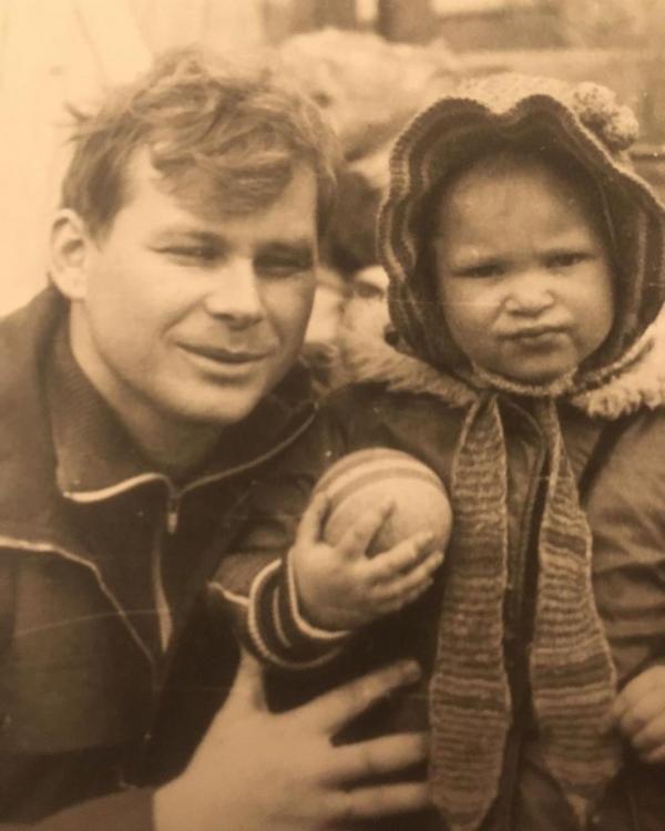 В детстве с папой